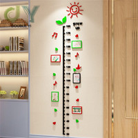 Cartoon sun 3D acrylic wall sticker children's room creative heighter measurement wallpaper decoration acrylic wall sticker