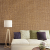 Gline ready to ship 40cmx500cm heavy embossed fabric texture self adhesive pvc wallpaper brown