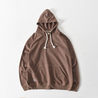 Sweater Plain Blank Hooded Loose Fit Sweater