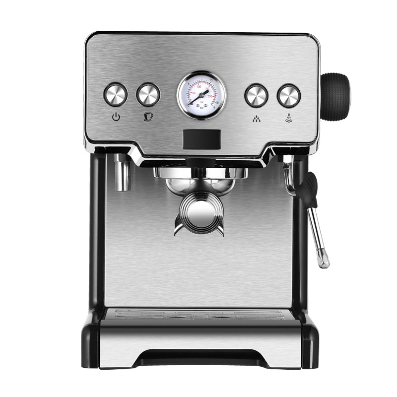 Stainless steel mini home use/commercial use coffee machine one head with water tank