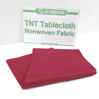 Disposable tablecloth nonwoven fabric disposable plastic tablecloth tnt nonwoven tablecloth