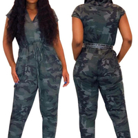 2020 Summer Plus Size Jumpsuit Women Denim Jumpsuit