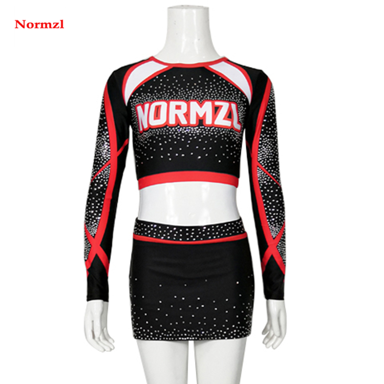 New Arrival Wholesale Performance Long Sleeve Sublimated Cheerleading Uniforms Dance Wear
