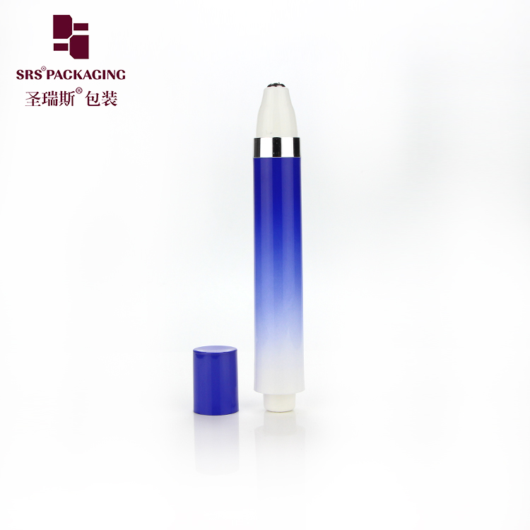 Custom Empty Airless Cosmetic Packaging High End Double Wall Eye Cream Roll On Bottle 15ML
