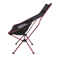 customized OEM high back head rest lightweight compact portable foldable outdoor camping used folding chairs wholesale