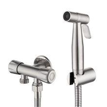 Ручной Биде из нержавеющей стали, набор для биде, опрыскиватель для биде, пистолет-распылитель для ванной комнаты, насадка для душа(Китай)