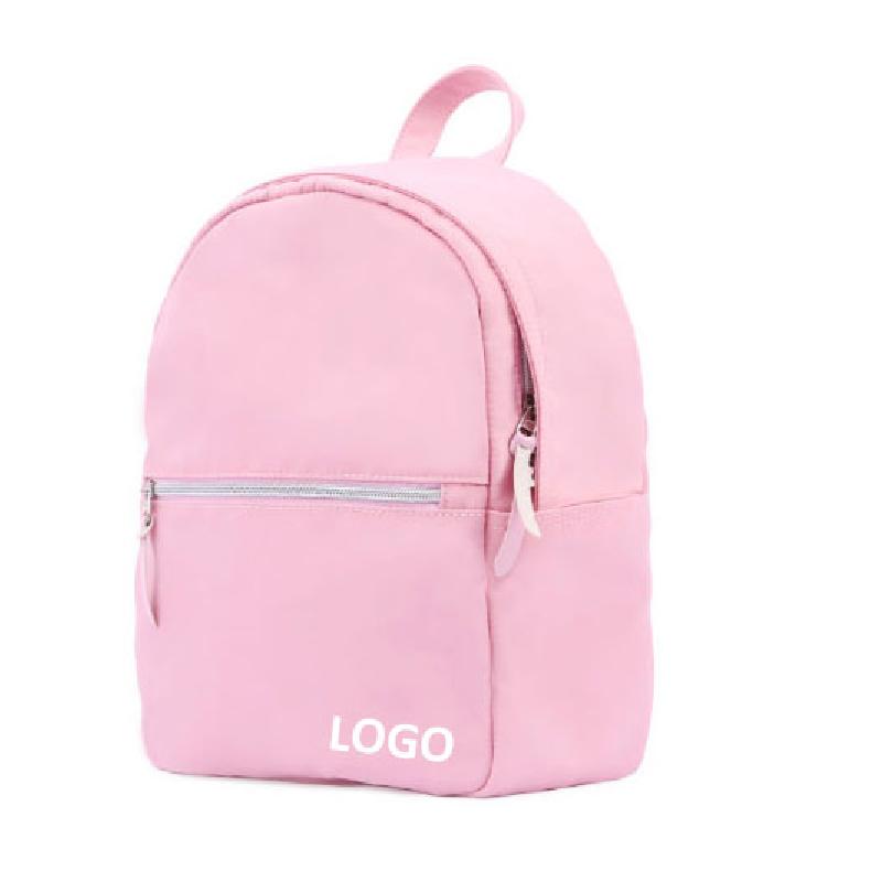 Logo personalizzato stampa rosa mini zaino delle donne