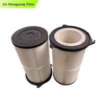 High Quality industrial dust collector polyester Three Lugs Pleated Filter cartridge325*600 air filter cartridge