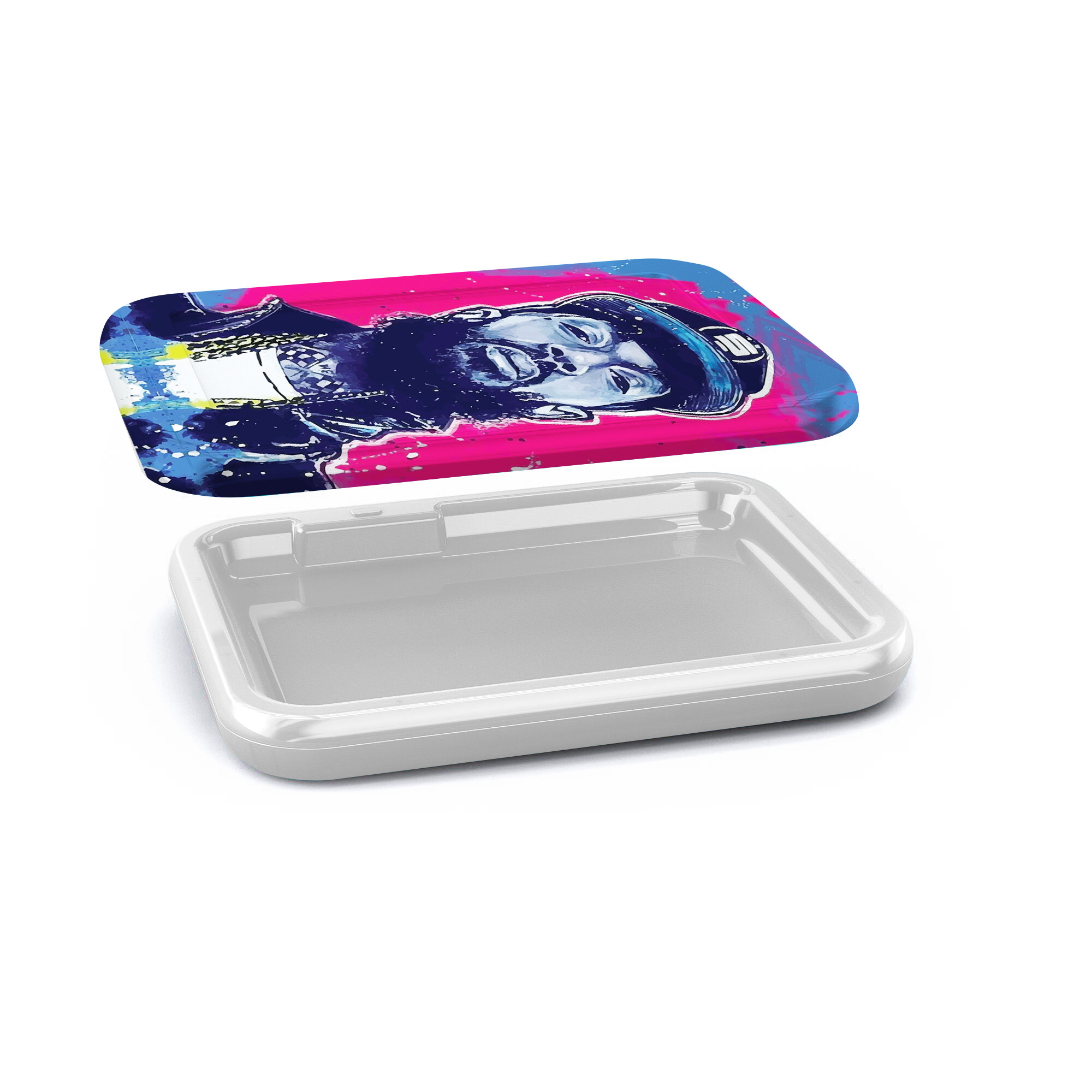 A Smoke Accessories Custom Light up rolling tray plastic led custom backwood runtz cookie glow tray with lid