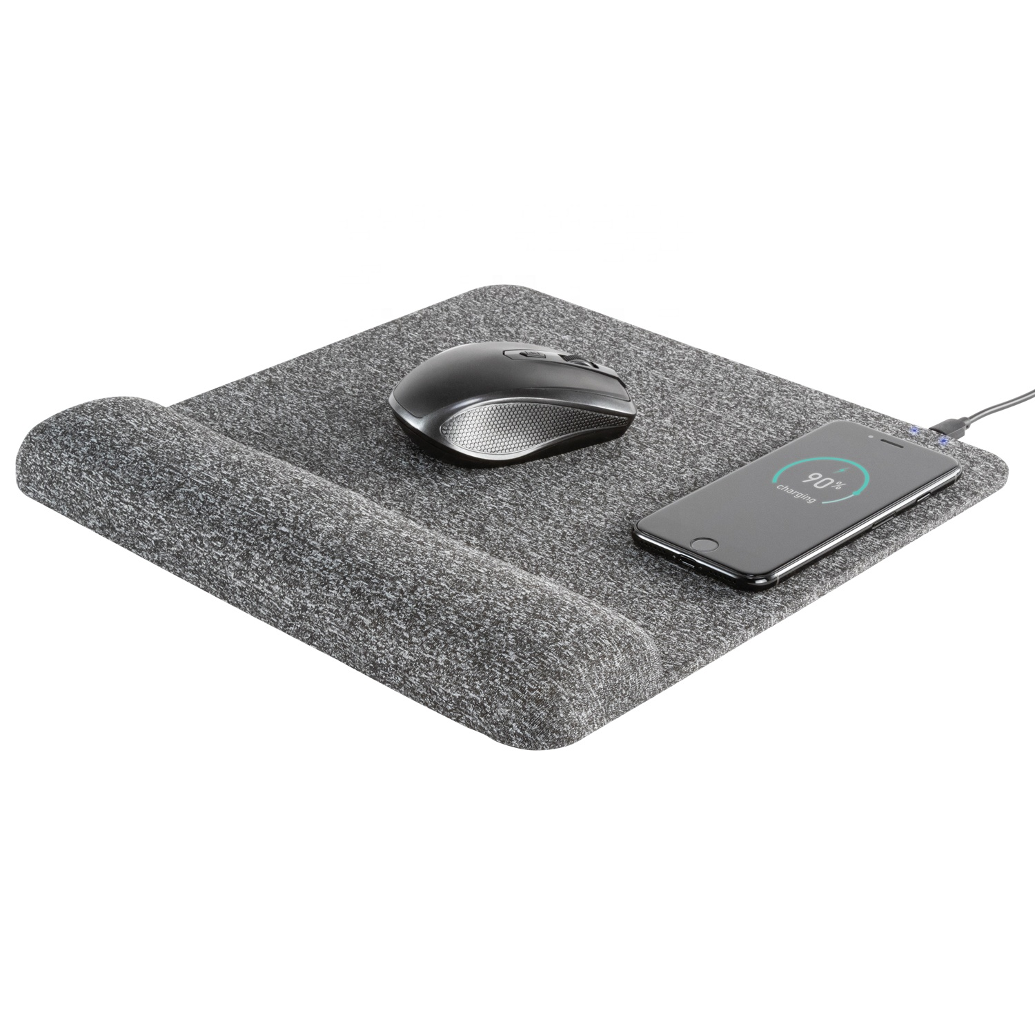 Musthong Fast Wireless Charging Mouse Pad with Wrist Rest Support Memory Foam and Non-Slip Base for Computer Laptop Office Home