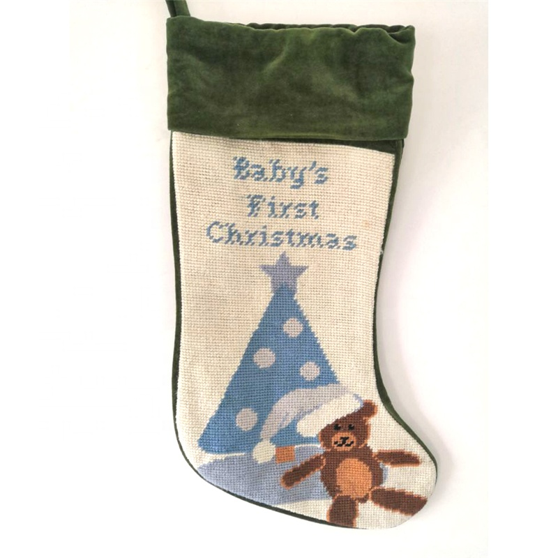 <strong>Baby's</strong> <strong>First</strong> <strong>Christmas</strong> Needlepoint <strong>Christmas</strong> Stocking Promotion with FAST DELIVERY ONLY 275 PCS AVAILABLE