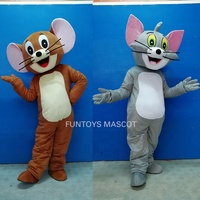 Funtoys CE Tom Cat And Jerry Mouse Mascot Costume Cosplay Cartoon Film Halloween For Adult