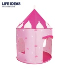 Wholesale pink princess castle baby kids play house teepee tent with good material
