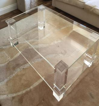 clear acrylic lucite coffee table wholesale