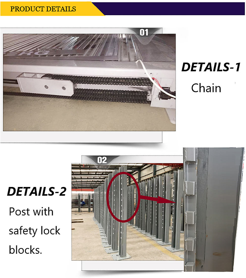 auto Hydraulic chain type four post garage vehicle parking stacker