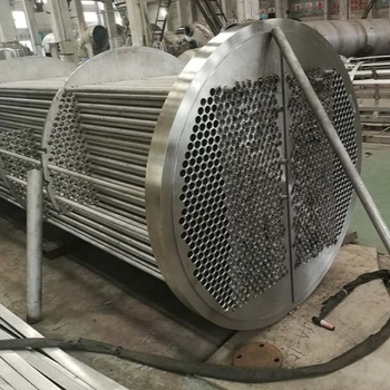 Food grade stainless steel shell and tube heat exchanger