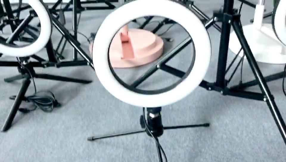 10 אינץ טלפון סלולרי Led מנורת מצלמה טבעת למלא אור מחזיק טבעת אור עם חצובה Stand