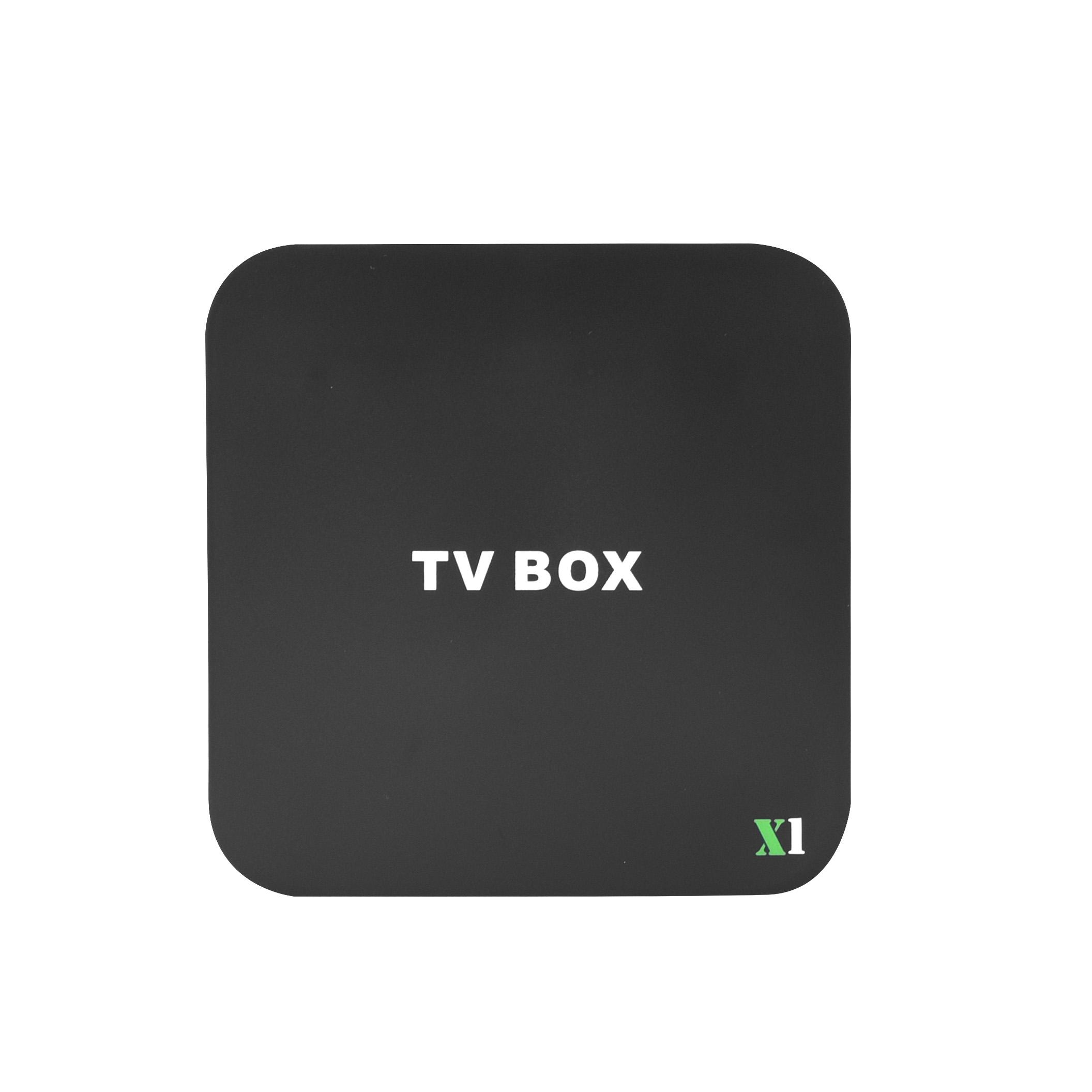 חם מכירות רשת חכם טלוויזיה תיבת X1 WIFI אוט IPTV 1G + 8G HD 4K שחור אנדרואיד טלוויזיה תיבה