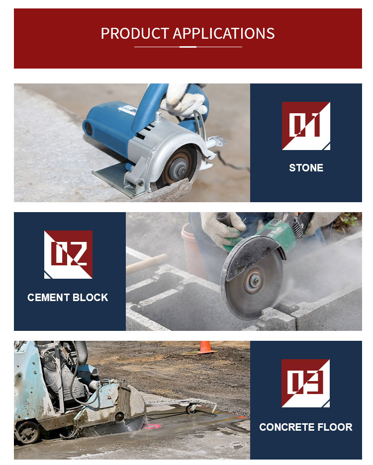 Diamond circular saw blade for cutting marble stone