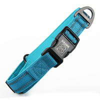 Custom Nylon Leather Reflective GPS Led Training Chain Buckle Waterproof Dog Collar