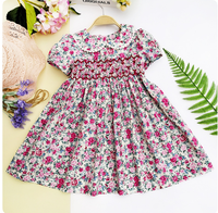 CONICE Smocked Children Summer Clothing Wholesale Children's Boutique dress For Girls
