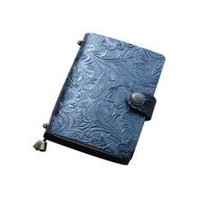 Винтажный кожаный журнал путешествий; Записная книжка Дневник тисненый пресс блокнот Sketchbook DXAB(Китай)