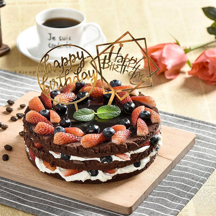 Nicro Gold Glitter Custom Personalized Wedding Happy Birthday Acrylic Cake Topper