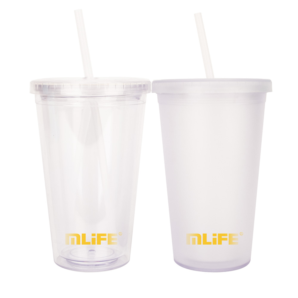 450ML double wall reusable bubble tea <strong>cup</strong> with straw
