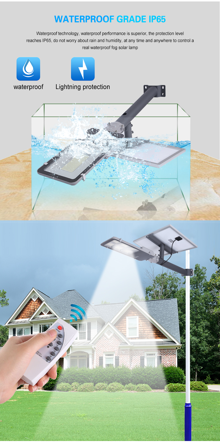 Factory price IP65 waterproof outdoor 60w 150w 200w 300w smd solar street light
