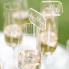 VONVIK Wholesale Acrylic Champagne Sticks With Place Cards