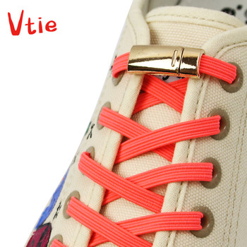 Colorful Quick Magnetic Shoelaces Elastic Shoe laces No Tie High Quality Flat shoelace Outdoor Leisure Sneakers Lazy laces