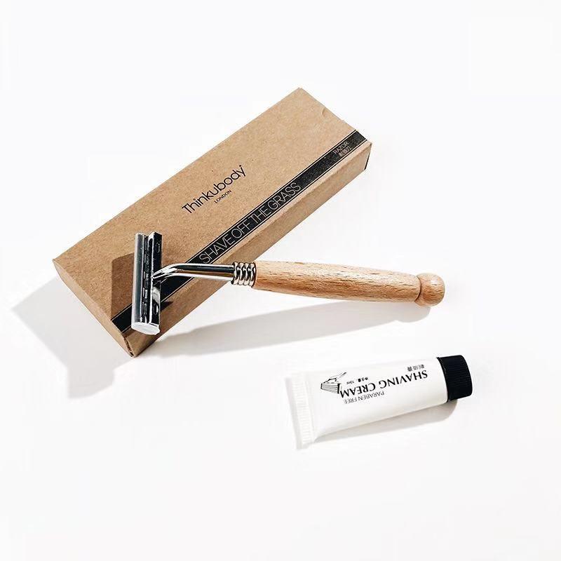 Отельные товары на заказ деревянная бамбуковая Расческа бритва биоразлагаемая зубная щетка набор