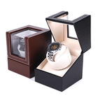 Custom Watch Shaker For Mechanical watches For home Use or Collection Brown And Black Color Luxury Wooden Watch Winder