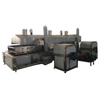 automatic continuous frying machine for shrimp tempura seafood chicken nuggets