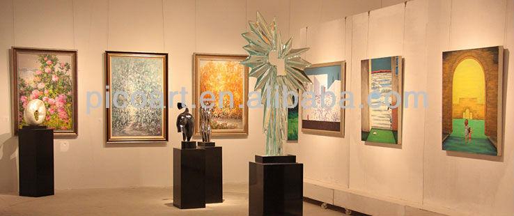 Decoración artística de pared con relieve de flores de fibra de vidrio