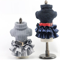 Pet Dog Sweater Dress Clothes Fall Winter Pet Accessories
