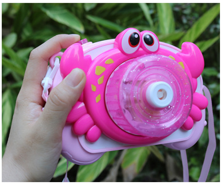 Kids Groothandel Bubble Camera Speelgoed Krab Cartoon Licht Musical