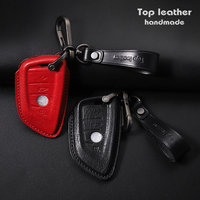Gifts & Crafts Top Genuine Leather Smart Car Key Case Cover for BMW X1/2/X3/X4/X5/X6/X7/320LI\M3\GT5