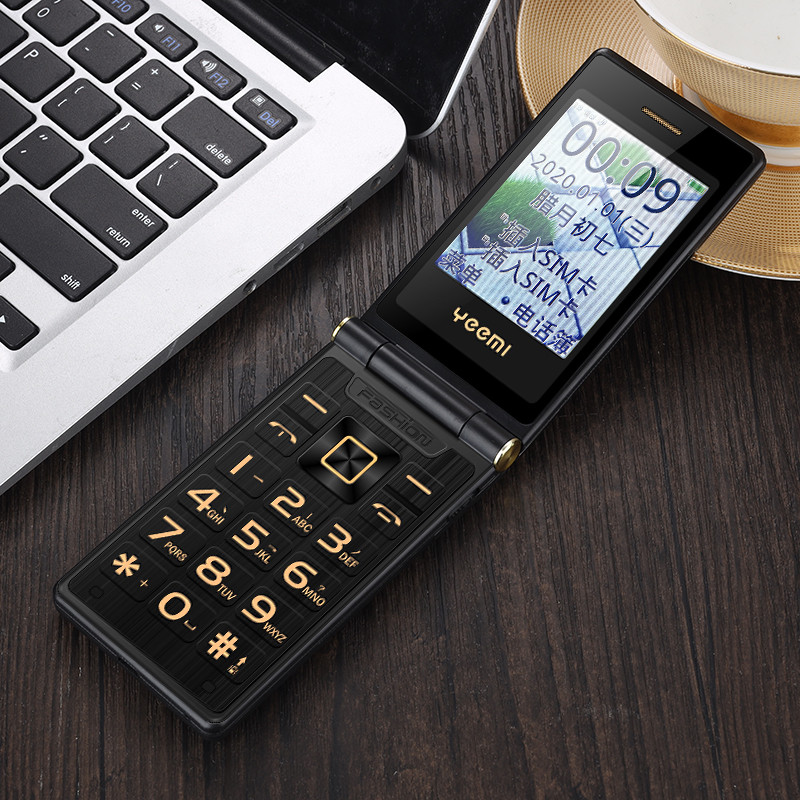 2020 Chinese factory Dial sos NEW luxury gold Metal Body TKEXUN M2+ GSM WCDMA 3G Dual SIM big button flip keypad mobile phone