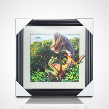 High quality 5d lenticular picture of dinosaur with frame customize