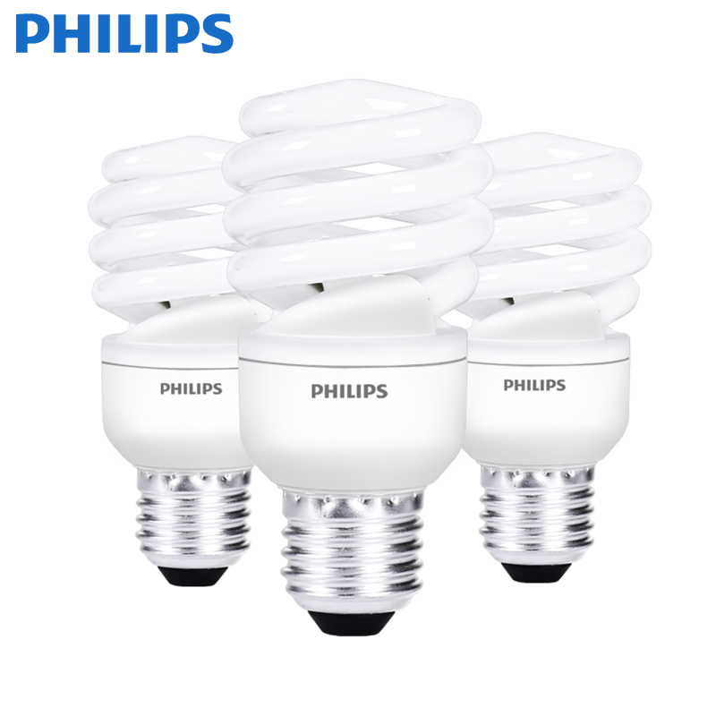 Philips energy-saving bulb <strong>spiral</strong> e27e14 screw fluorescent <strong>lamp</strong> household electric super bright daylight thread three primary co