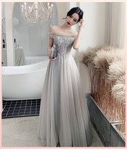 Новый светильник, серое платье подружки невесты, милые элегантные вечерние платья для выпускного вечера(Китай)