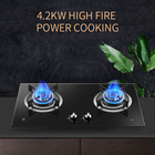 Gas Ceramic Gas Kitchen Appliance Gas Smart Cooker Stove 2 Burner Slim Gas Stove Industrial Cooker Ceramic Glass Steam Industrial Cooker