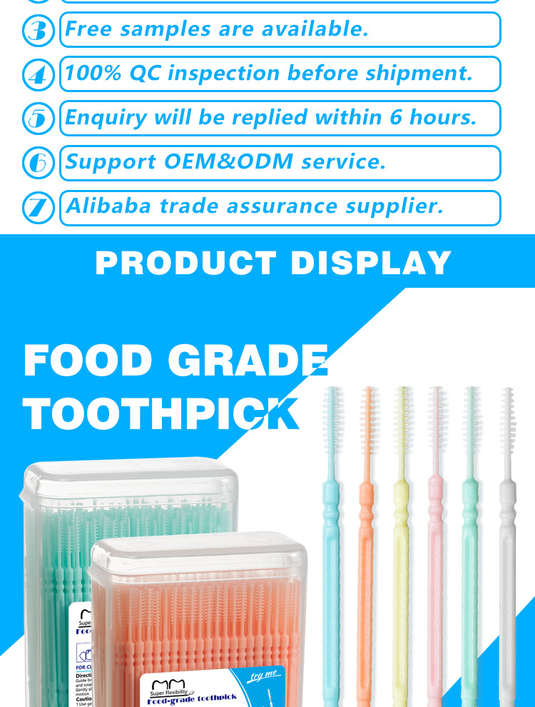 Bulk Low Price Box Package Mint Custom Interdental Brush Plastic Dental Pick Toothpick Wholesale