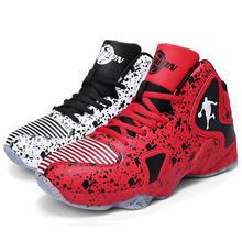 Мужские кроссовки в стиле ретро; Спортивная обувь для баскетбола; Мужская амортизирующая Баскетбольная обувь с высоким берцем; Женские и му...(Китай)