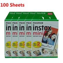 10-100 лист Fujifilm Instax Mini Film 8 9 пленка мини белая мгновенная фотобумага для камеры Instax Mini7s 50s 90 фотобумага Whit(Китай)