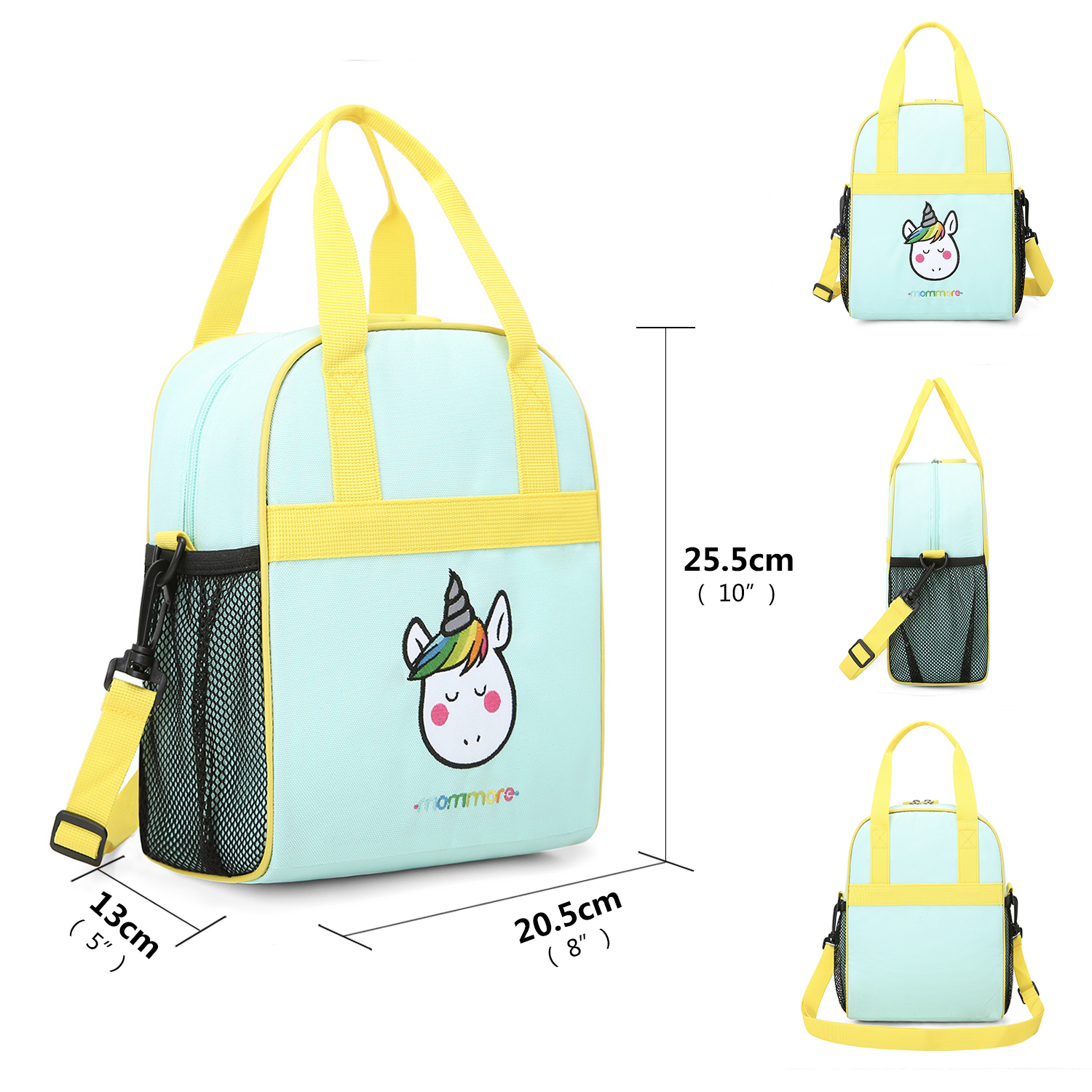 Factory directly cartoon unicorn sling children insulated cooler lunch bags for school kids