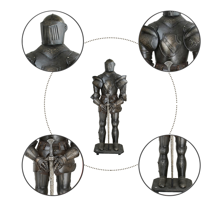 Best Selling Medieval Metal Knight Ancient Armor Costume