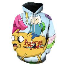 Время приключений забавная Желтая Собака Jake печать мультфильм толстовки для мужчин 3D Kawaii осень Активный Спортивный костюм мультфильм Скей...(Китай)