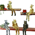 christmas decorative wood animal craft shelf sitter wooden home decor